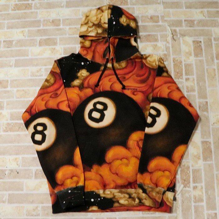 国内正規品 2019AW Supreme Martin Wong 8-Ball Hooded Sweatshirt Black 新品未使用品 [ シュプリーム マーティン ウォン 8ボール フーディー パーカー ブラック 黒 ]