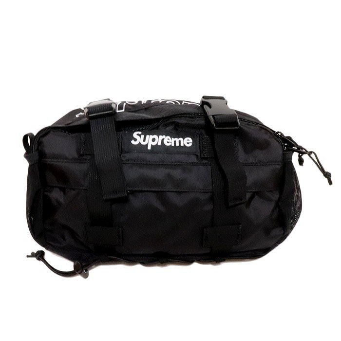 国内正規品 2019AW Supreme Waist Bag Black 新品未使用品 [シュプリーム ウエストバッグ ブラック 黒 ]