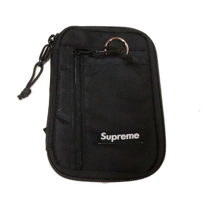国内正規品 2019AW Supreme Small Zip Pouch Black 新品未使用品 [シュプリーム スモール ジップ ポーチ ブラック 黒 ]