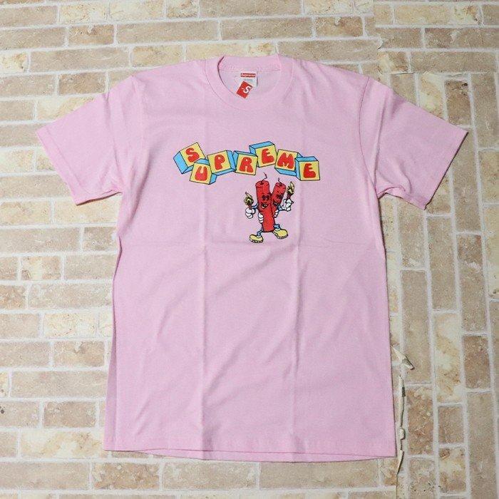 国内正規品 2019SS Supreme Dynamite Tee Light Pink 新品未使用品 [ シュプリーム ダイナマイト Tシャツ ライトピンク ]