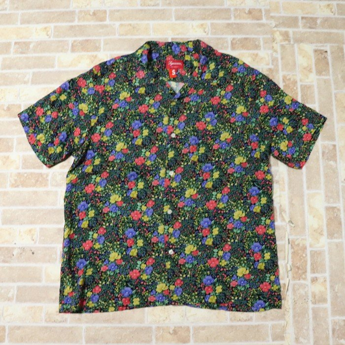 国内正規品 2019SS Supreme Mini Floral Rayon S/S Shirt Black 新品未使用品 [ シュプリーム ミニ フラワー レーヨン シャツ ブラック 黒 ]
