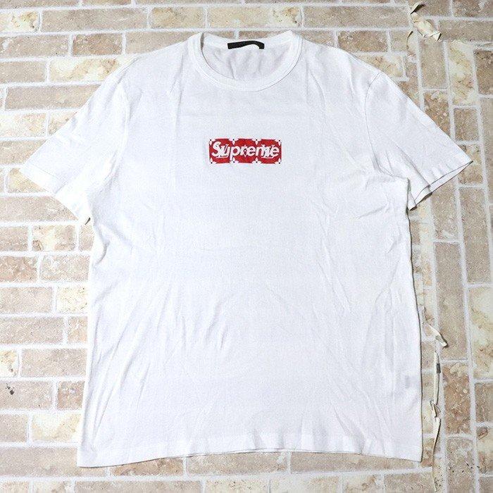 国内正規品 2017-18AW Supreme × LOUIS VUITTON BOX LOGO TEE White 美中古品 [ シュプリーム ルイ・ヴィトン ボックス ロゴ Tシャツ ホワイト 白 ]