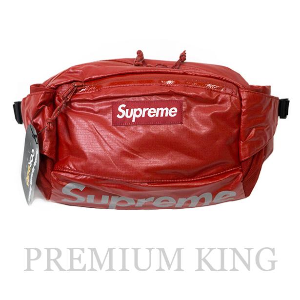 国内正規品 2017AW Supreme 100D Cordura laminated ripstop nylon Waist Bag Red 新品未使用品 [ シュプリーム コーデュラ ラミネート リップストップ ナイロン ウエスト バッグ レッド ]