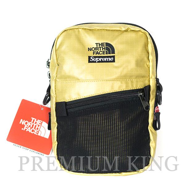 国内正規品 2018SS Supreme × The North Face Metallic Shoulder Bag Gold 新品未使用品 [ シュプリーム TNF ノースフェイス メタリック ショルダー バッグ ゴールド ]