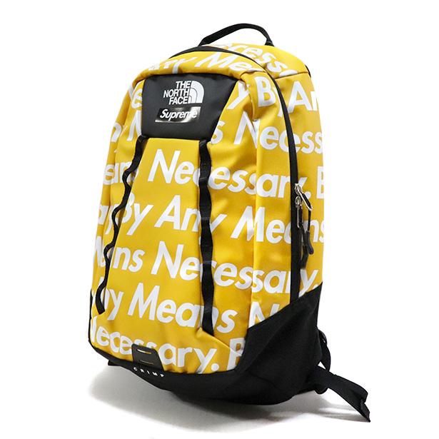 国内正規品 2015FW SUPREME × THE NORTH FACE Base Camp Crimp Backpack Yellow 新品未使用品 [ シュプリーム ノースフェイス ベース キャンプ クリンプ バックパック イエロー 黄 ]
