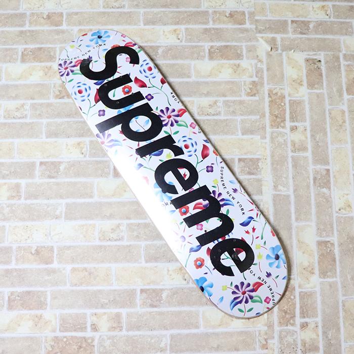 国内正規品 2019SS Supreme Airbrushed Floral Skateboard White 新品未使用品 [ シュプリーム エアブラシ フローラル スケートボード デッキ ホワイト 白 花柄 ]