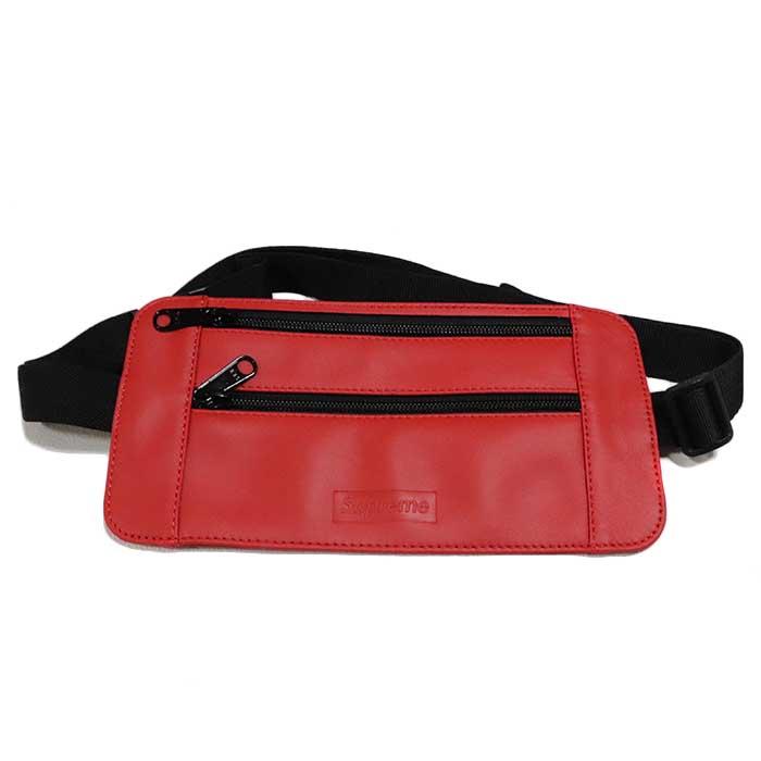 国内正規品 2019SS Supreme Leather Waist/Shoulder Pouch Red 新品未使用品 [ シュプリーム レザー ウエストショルダーバッグ ポーチ レッド 赤 ]