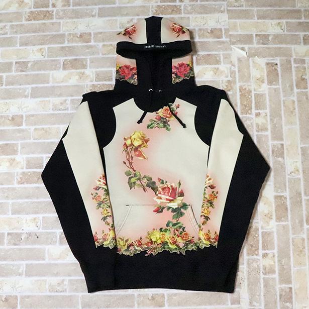 国内正規品 2019SS Supreme × Jean Paul Gaultier Floral Print Hooded Sweatshirt Black 新品未使用品 [ シュプリーム ジャンポールゴルチェ フローラルプリント フーディー パーカー ブラック 黒 ]