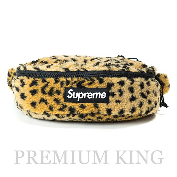 国内正規品 2017AW Supreme Leopard Fleece Waist Bag Yellow 新品未使用品 [ シュプリーム レオパード フリース ウエスト バッグ イエロー 黄 ]