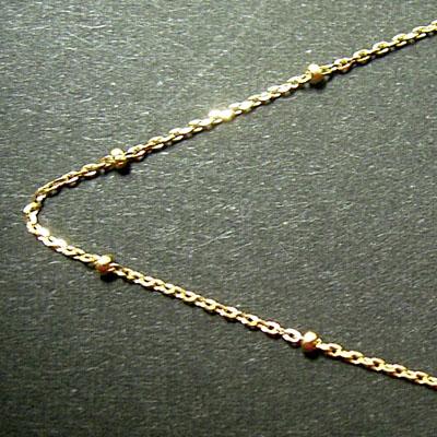 K18アズキデザインネックレス