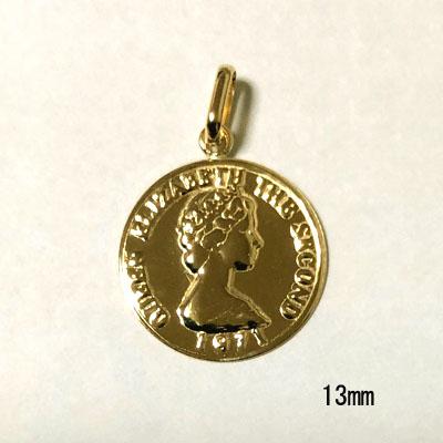 K18コイン13mmモチーフトップ