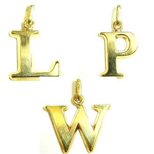 K18イニシャルチャーム(L・P・W)
