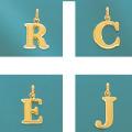 K18イニシャルチャーム(R・C・E・J)