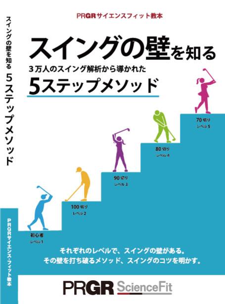 【送料無料】PRGRサイエンス・フィット教本第3弾 『スイングの壁を知る 5ステップメソッド』