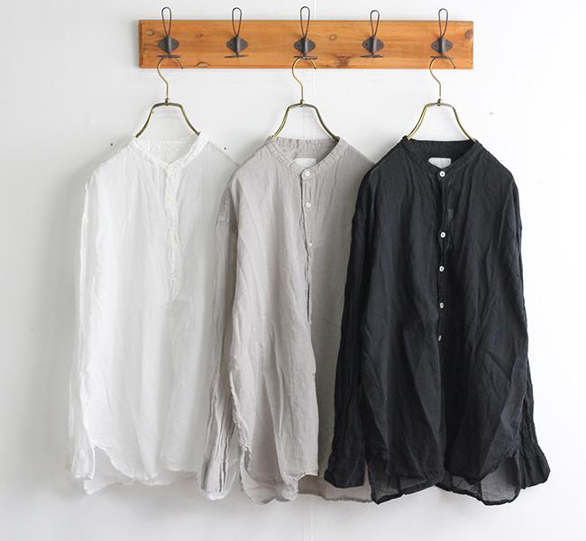 ARMEN アーメン バンドカラーシャツ INAM1702GD GAUZE DYE UTILITY BANDED COLLAR SHIRTS