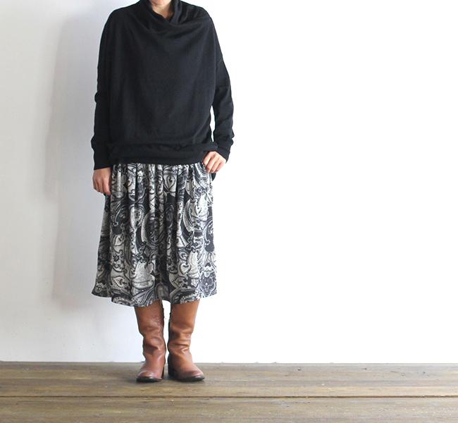 mizuiro-ind  ミズイロインド ペイズリープリントスカート