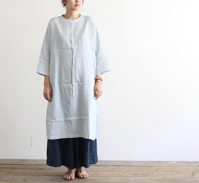 Vlas Blomme ヴラスブラム VB Silk Linen ワイドワンピース 13219391