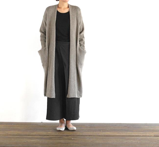 evam eva  エヴァムエヴァ drop pocket robe