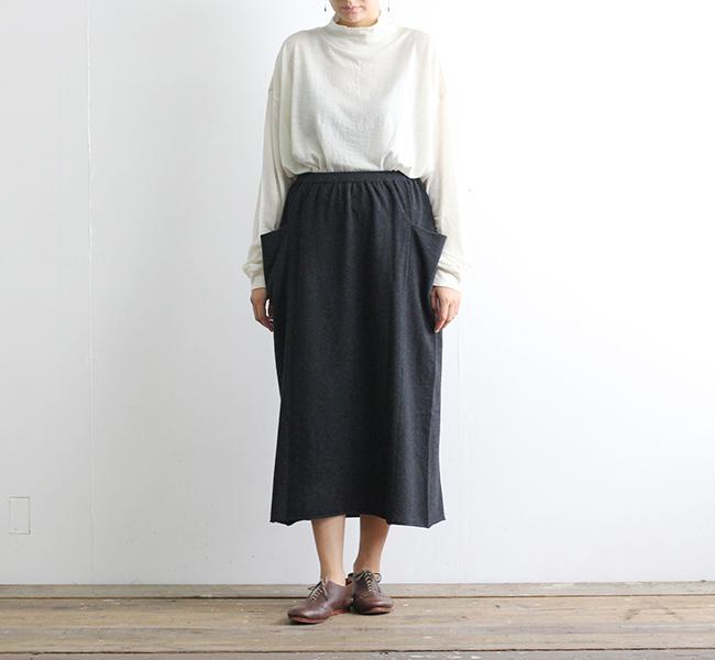 evam eva  エヴァムエヴァ wool skirt E183K128