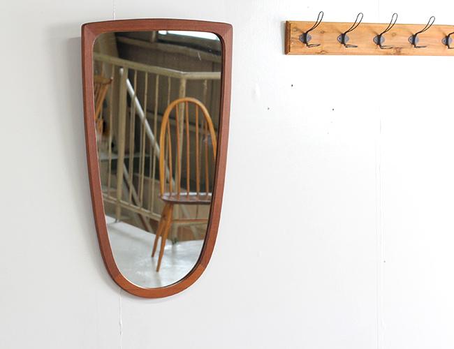 デンマークヴィンテージ ウォールミラー 北欧家具