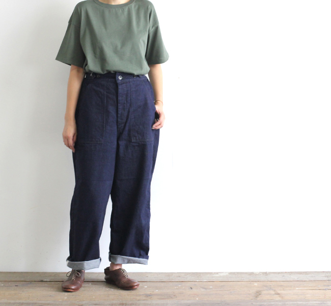 ordinary fits オーディナリーフィッツ レディース  JAMES PANTS one wash ジェームズパンツ ワンウォッシュ OF-P002DOW