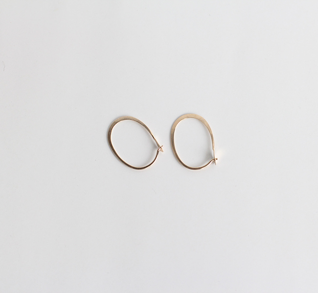 Small Oval Hoops  Melissa Joy Manning by SOURCE