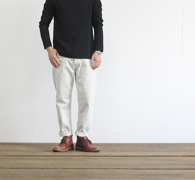 ordinary fits オーディナリーフィッツ 5POCKET ANKLE DENIM ONE WASH WHITE アンクルデニム ホワイト