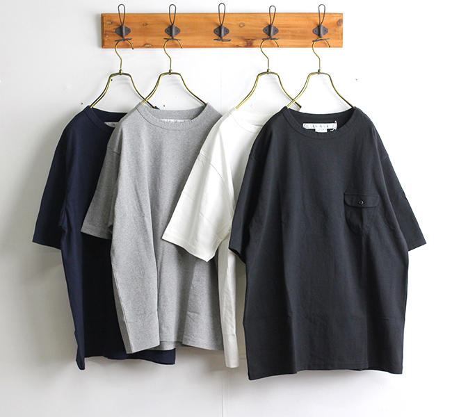 EEL Products イール プロダクツ 陶器釦のポケTee Tシャツ E-20511
