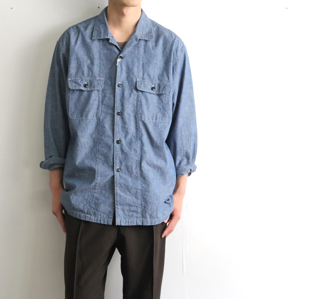 SALE30%OFF ordinary fits オーディナリーフィッツ エンジニアシャツ ENGINEERS SHIRTS ONEWASH OF-S36OW