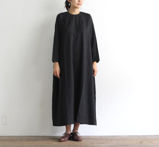 evam eva  エヴァムエヴァ コットンシルクバックタックワンピース cotton silk back tuck one-piece E203T050