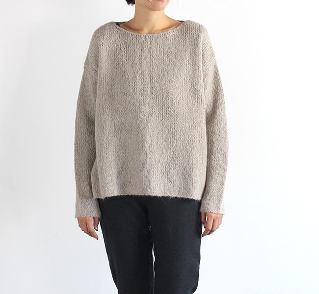 evam eva  エヴァムエヴァ raising yarn pullover