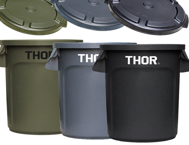 THOR Round Container 38L フタ付き