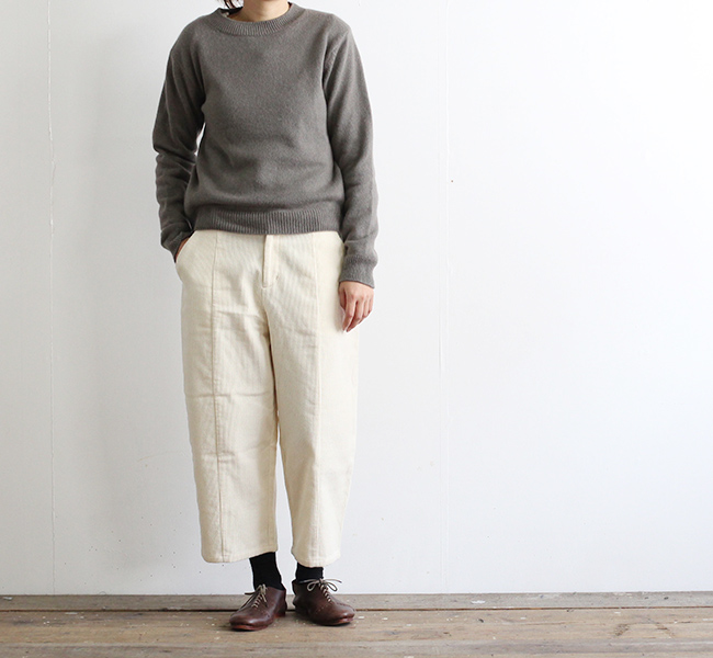 evam eva  エヴァムエヴァ corduroy cropped pants E183T185