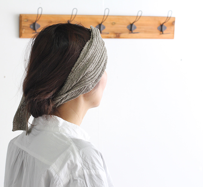 Vlas Blomme ヴラスブラム Linen Silk RIB柄ヘアバンド