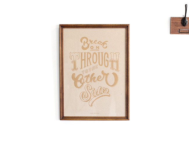 AND THROUGH DESIGN  「Break On Through To The Other Side」 KINARI (A3サイズ) + ACME FURNITURE アクメファニチャー WARNER PHOTO FRAME ワーナー フォト フレーム A4/A3 BROWN