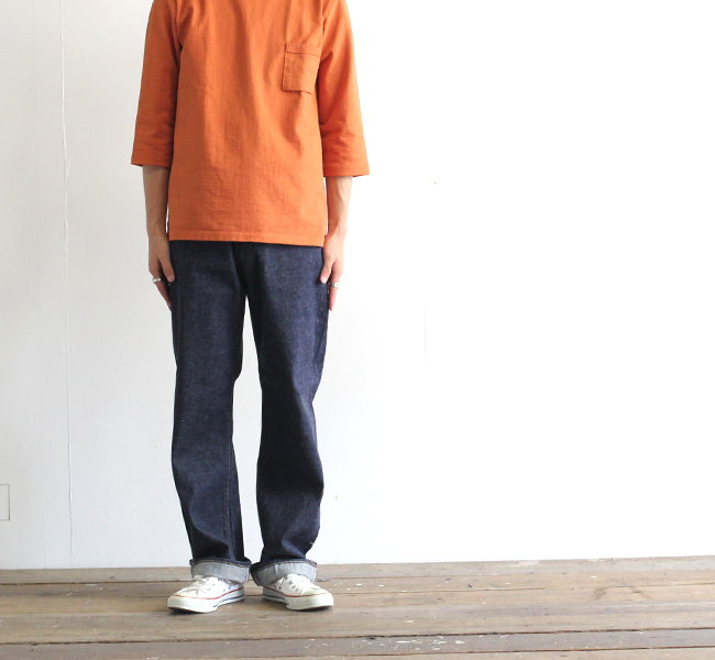 キャプテンサンシャイン KAPTAIN SUNSHINE バギーカットストレートデニムパンツ Baggy Cut Straight Denim Pants KS9FPT11
