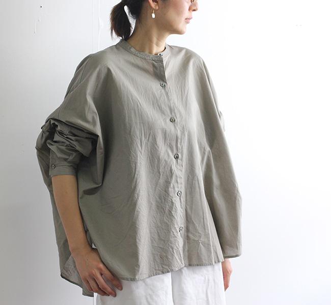 mizuiro ind  ミズイロインド バックギャザーワイドシャツ 1-23897512
