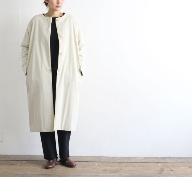 evam eva  エヴァムエヴァ padding dolman long coat E193T150