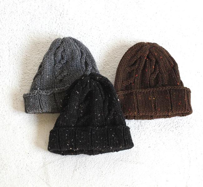 SALE40%OFF Soglia  MERINO Tweed knitcap