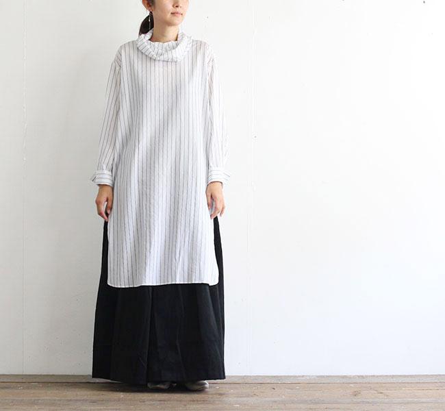 mizuiro-ind  ミズイロインド ハイネックチュニックシャツ 3-239339