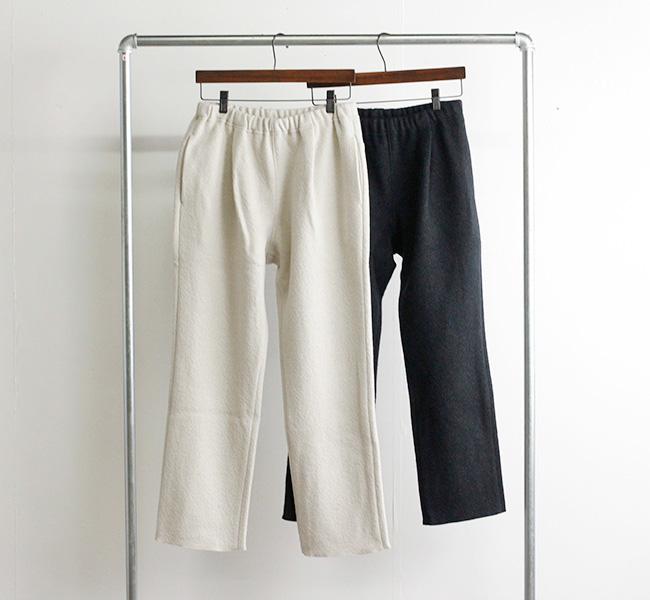 evam eva  エヴァムエヴァ プレスウールパンツ press wool pants E213K118