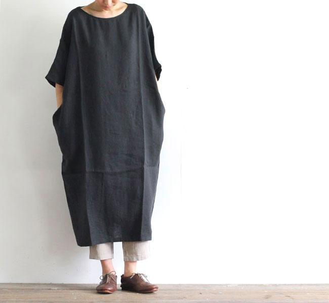 evam eva  エヴァムエヴァ リネン ワンピース linen one-piece E202T003
