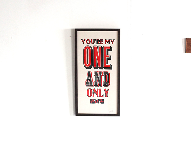 A TWO PIPE PROBLEM LETTERPRESS   ONE AND ONLY POSTER  Mサイズ 再入荷
