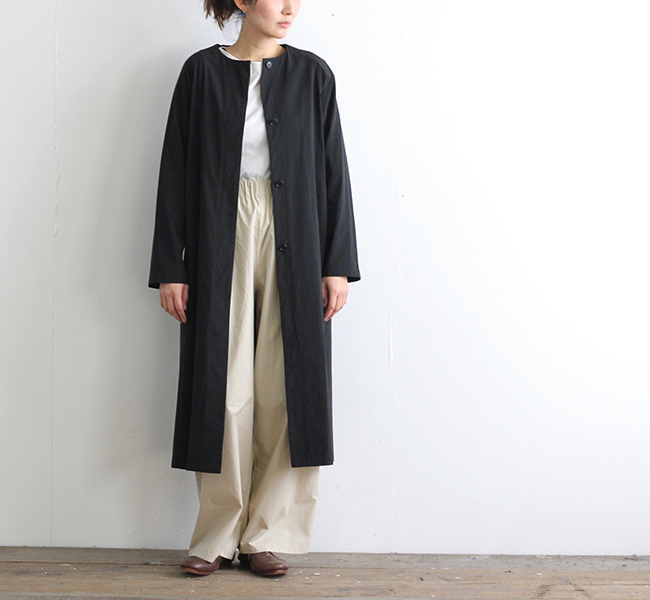 evam eva  エヴァムエヴァ raglan sleeve long coat E191T035