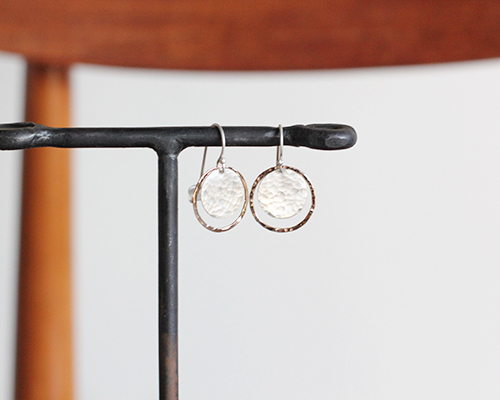 Disk in Hoop Earrings by SOURCE