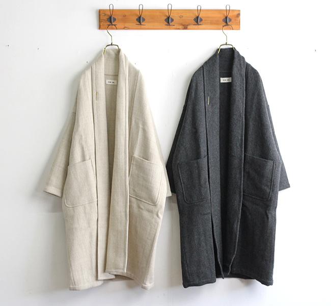 evam eva  エヴァムエヴァ ロングローブコート long robe coat E203T126