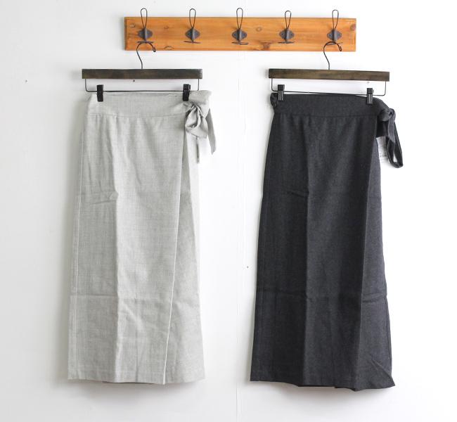 evam eva  エヴァムエヴァ ラップスカート wrap skirt V203T932
