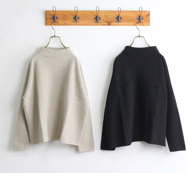 evam eva  エヴァムエヴァ ウールアンゴラハイネックプルオーバー wool angora high necked pullover E203K118