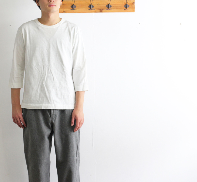 BETTER ラフィアMID WEGHT CREW NECK 3/4Tシャツ BTR1603 ユニセックス