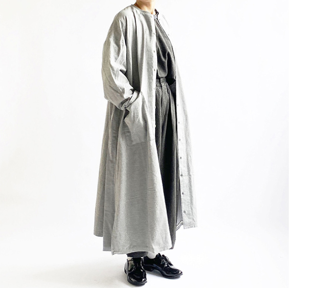 HARVESTY ハーベスティ  COTTON FLANNEL ATELIER ROBE コットンネル アトリエローブ A42004